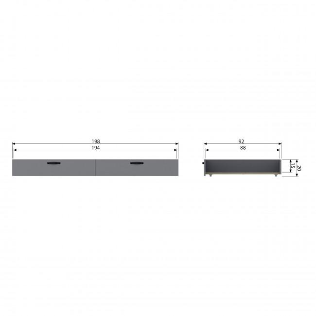 Morris - Tiroir en pin massif pour lit 90x200cm