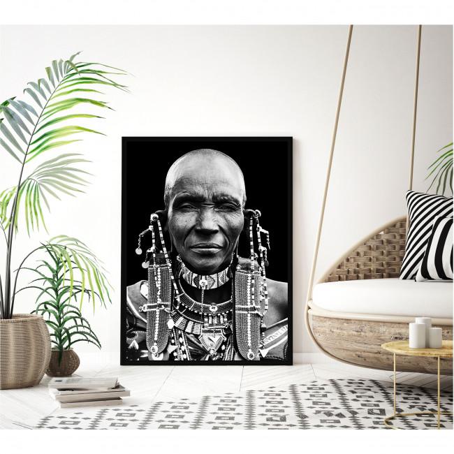 Dekula - Toile imprimée visage 92,5x65cm