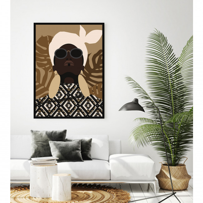 Watsa - Toile imprimée illustration 92,5x65cm