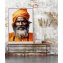 Amanpur - Toile imprimée visage 92,5x65cm
