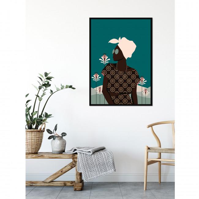Kazumba - Toile imprimée femme 92,5x65cm
