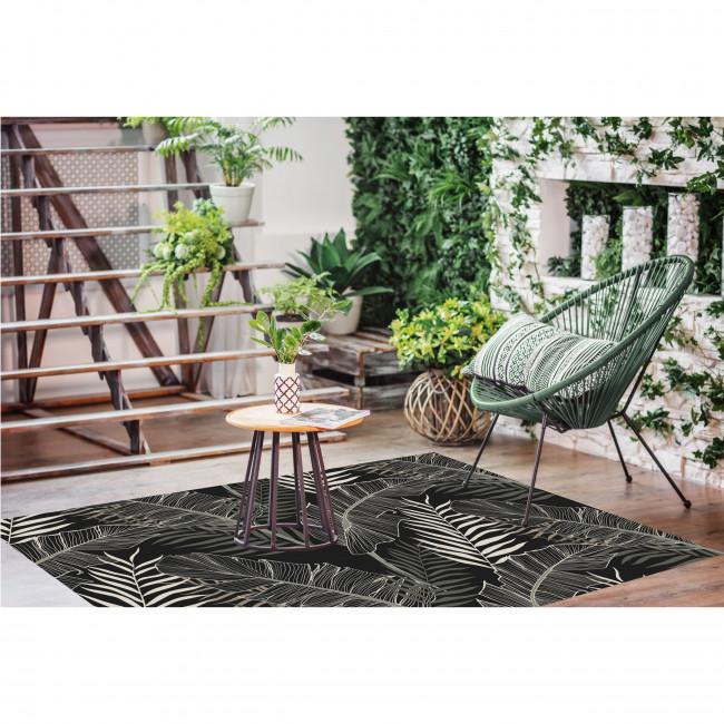 Kijungu - Tapis vinyle rectangle motif tropical