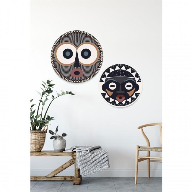 Liboko - Toile imprimée murale vinyle ø60cm