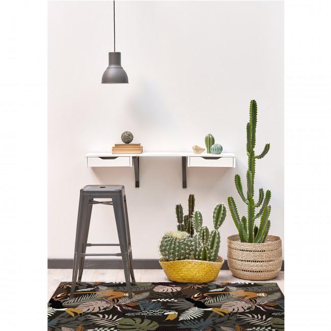 Oldeani - Tapis vinyle rectangle motif jungle