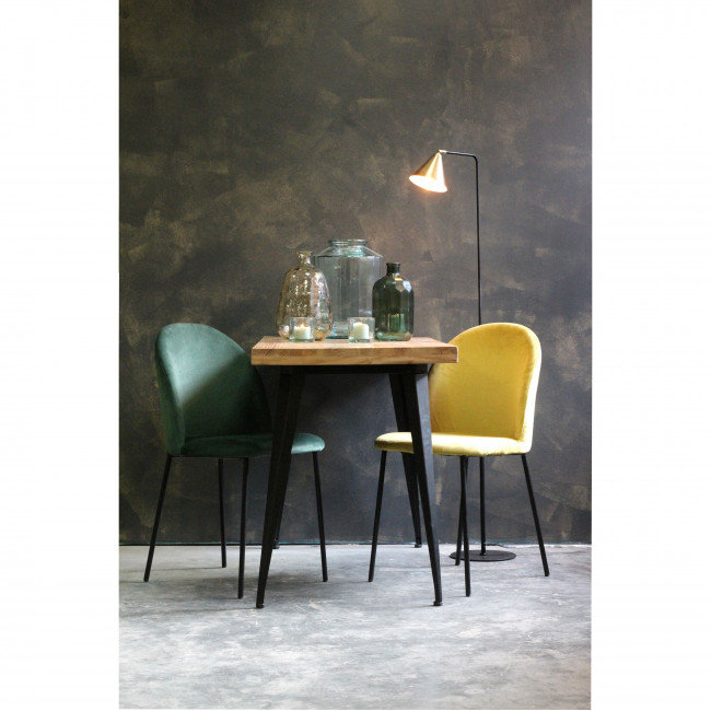 Dots - 2 chaises design en velours