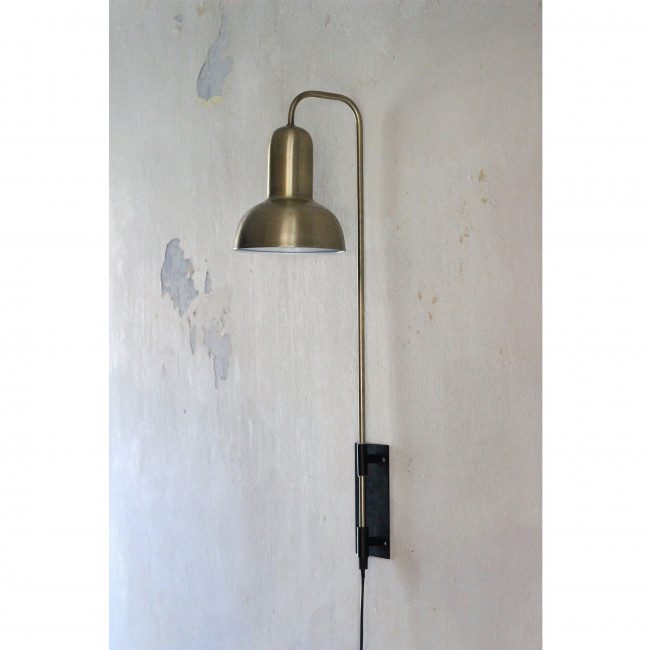 Waldorf - Applique murale verticale laiton