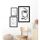 Toarp - Image encadrée visage minimaliste 50x40cm