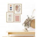 Ilaja - Image encadrée silhouette abstraite 50x40cm