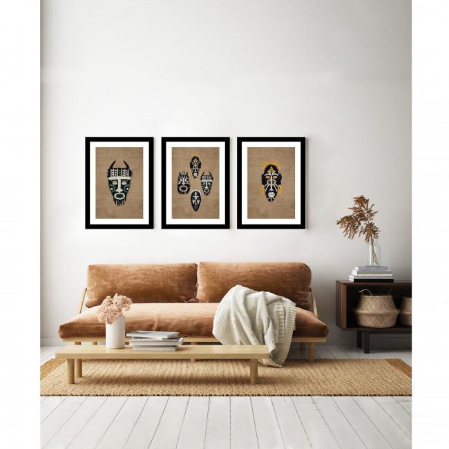 Bubura - Image encadrée masque africain 50x40cm