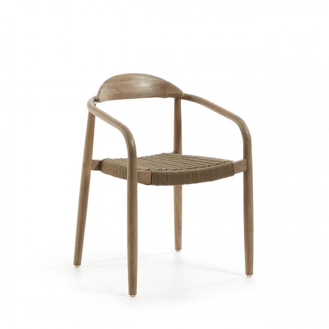 Nina - 2 chaises en eucalyptus et corde