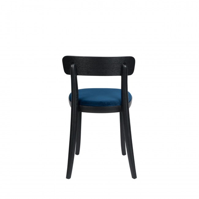 Brandon - 2 chaises en velours et bois
