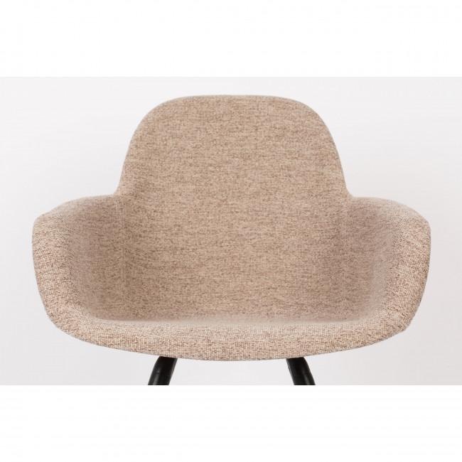 Albert kuip soft - 2 chaises avec accoudoirs en tissu