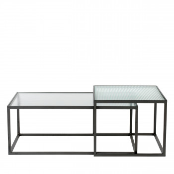 Boli - 2 tables basses en métal