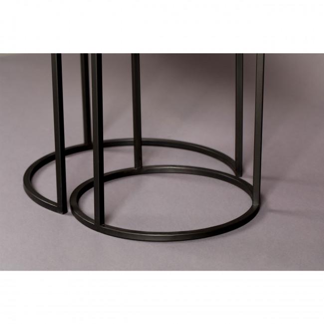 Boli - 2 tables d'appoint ronde en métal