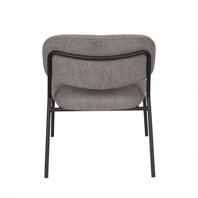Jolien - 2 chaises en tissu pieds noirs