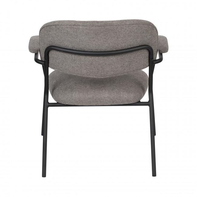 Jolien - 2 fauteuils de table pieds noirs