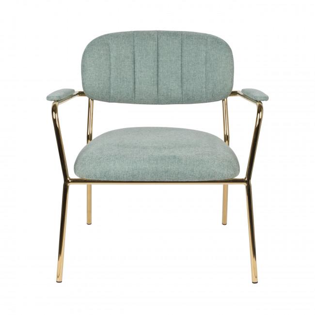 Jolien - 2 fauteuils de table pieds dorés