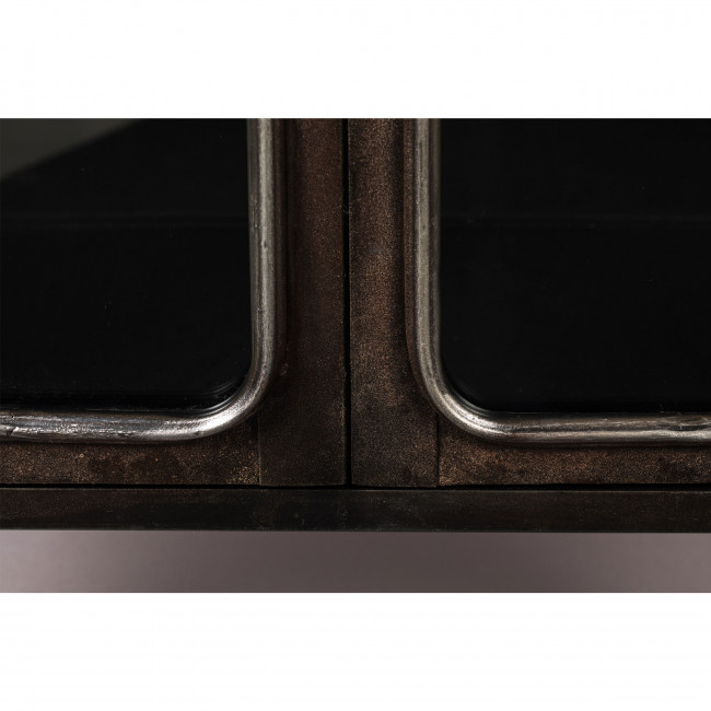 Denza - Vitrine style industriel en métal