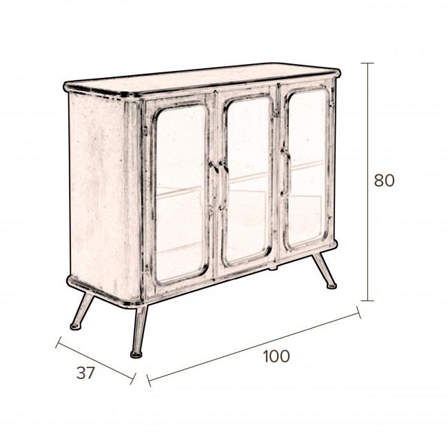Denza - Buffet style industriel en métal