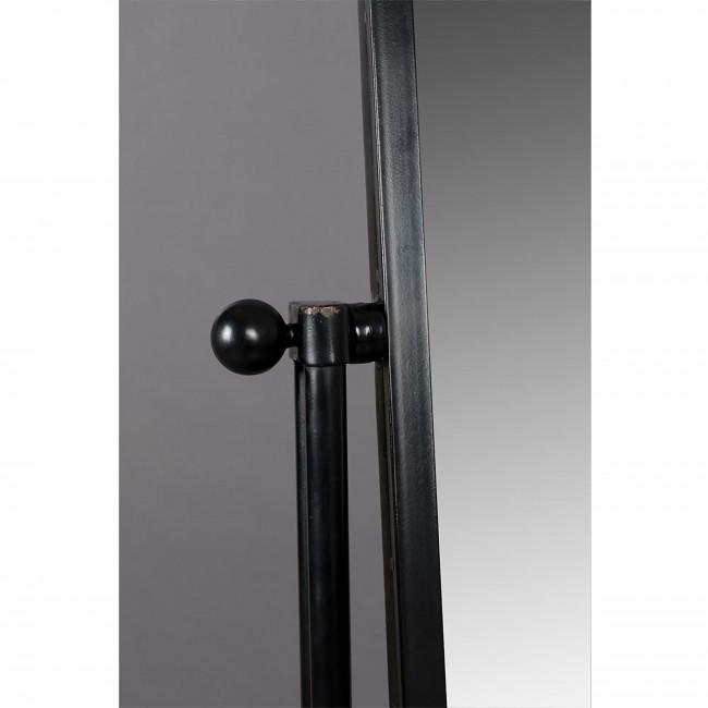 Gubo - Miroir sur pied en métal noir