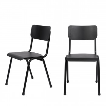 Back to school - 2 chaises d'écolier indoor/outdoor