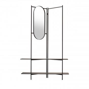 Varda - Vestiaire d'entrée en métal avec miroir