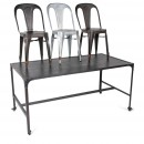 Lot de 2 Chaises Strong galva et table