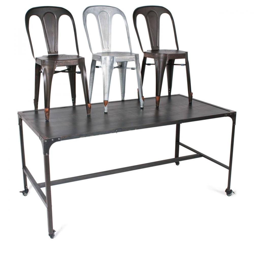Chaise industrielle style multipl 39 s par drawer for Chaise qui s accroche a la table