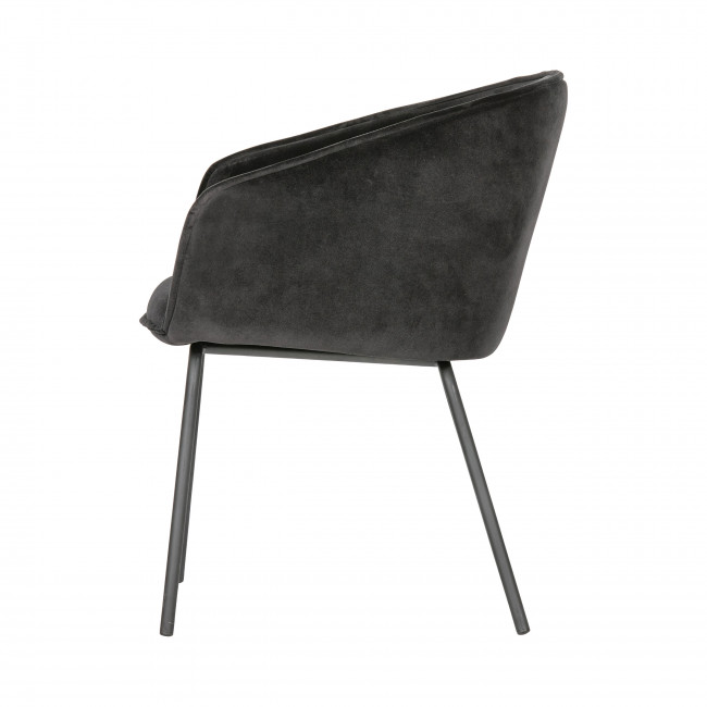 Sien - 2 fauteuils de table en velours