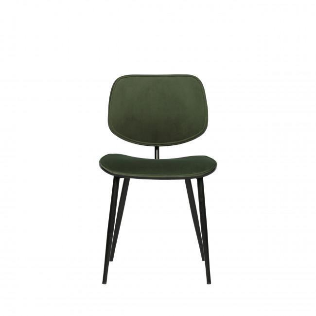 Jackie - 2 chaises velours rétro