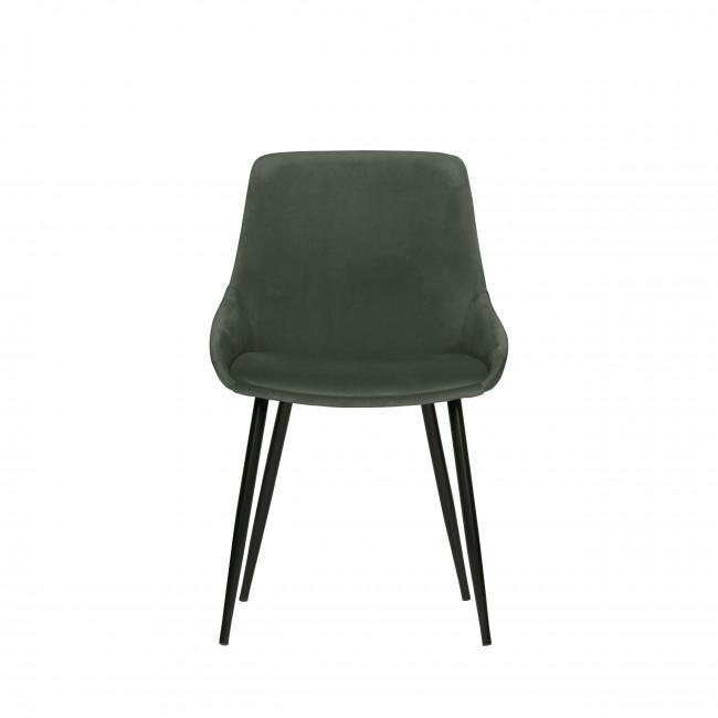 Selin - 2 chaises enveloppantes en velours