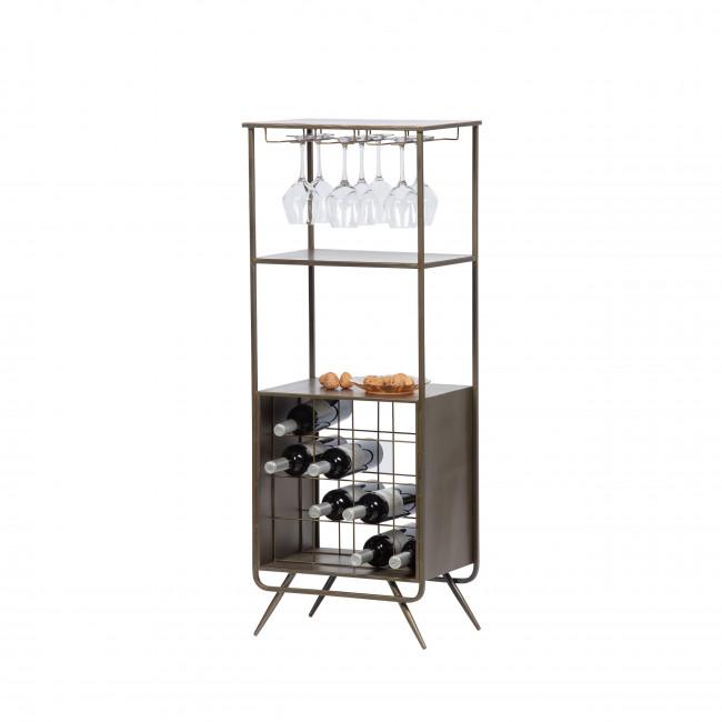 Vadim - Armoire bar à vin laiton
