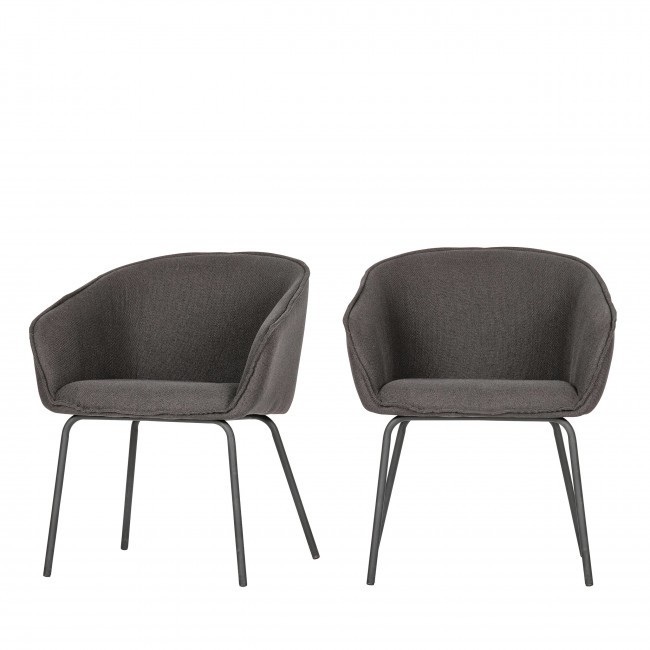 Sien - 2 fauteuils de table en tissu