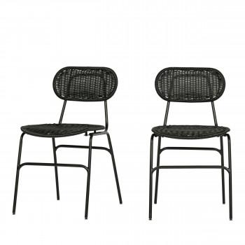 Britt - 2 chaises en résine tressée