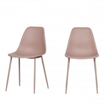 Lexi - 2 chaises design unicolores plastiques