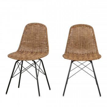 Spun - 2 chaises en résine tressée