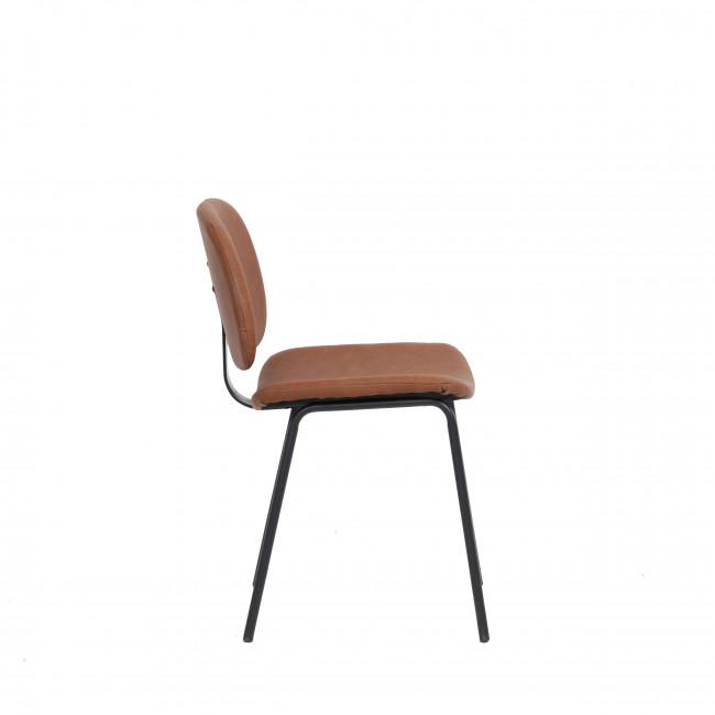 Melbeta - 2 chaises en métal et simili