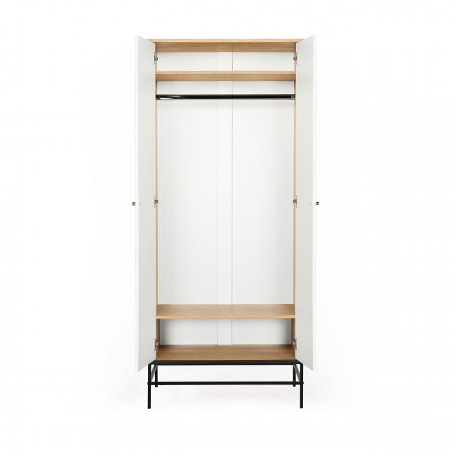 Mia - Armoire 2 portes en bois à motifs losanges