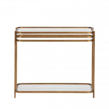 Kylie - Table basse en métal et verre