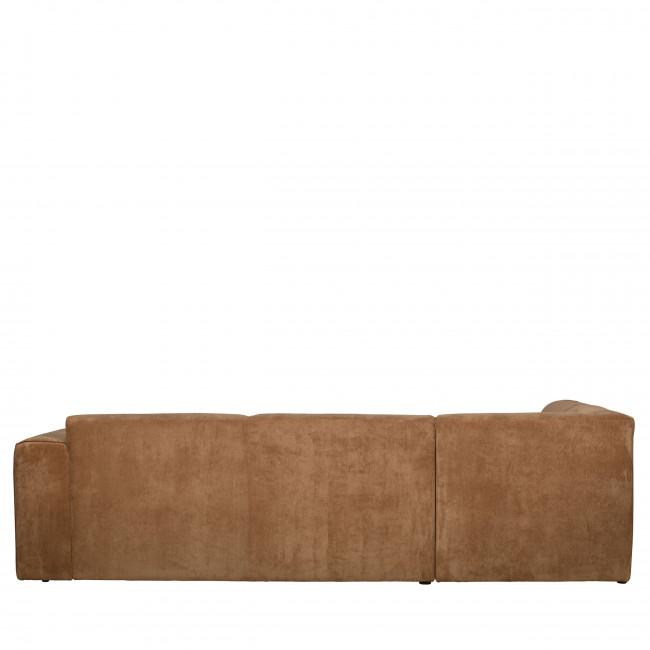 Luna - Canapé d'angle gauche en velours côtelé