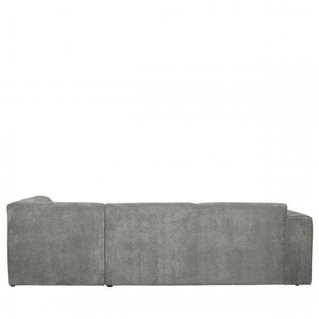 Luna - Canapé d'angle droit en velours côtelé