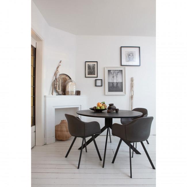 Bruno - Table à Manger en bois Ø120cm