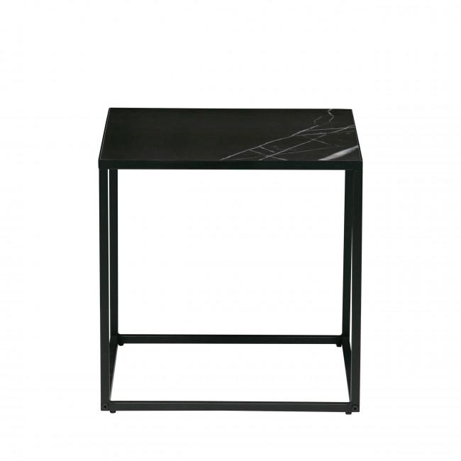 Side - Table basse en porcelaine et métal 45x45cm