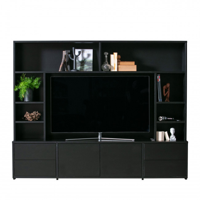 Maxel - Meuble TV en pin massif