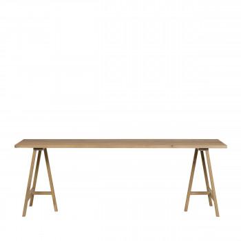 Panel - Table à manger en chêne massif avec tréteaux 190x80cm
