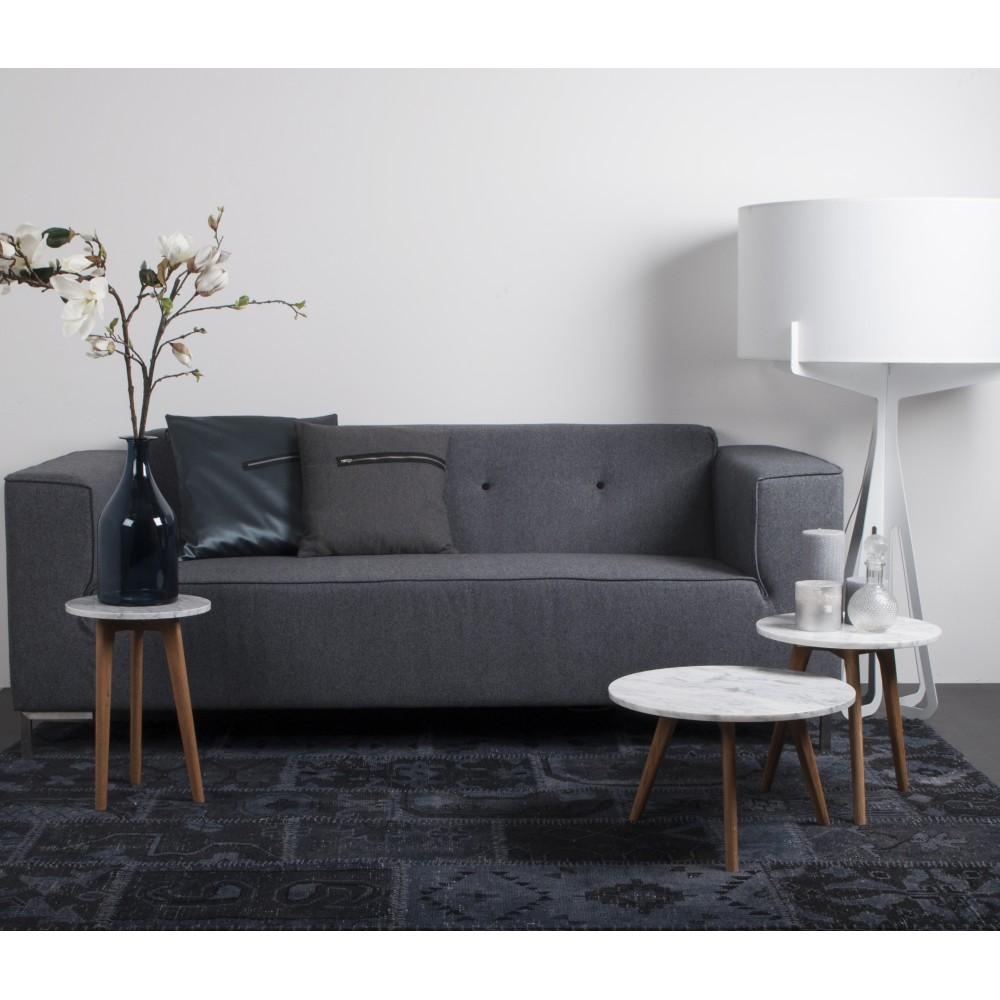 Table basse ronde bois et marbre white stone s drawer - Table de salon ronde design ...