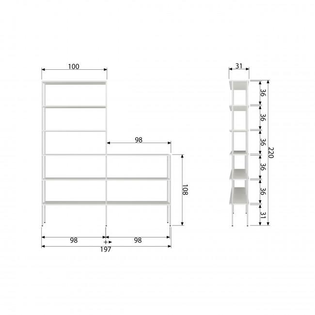 Rack - Étagère en métal 7 niches