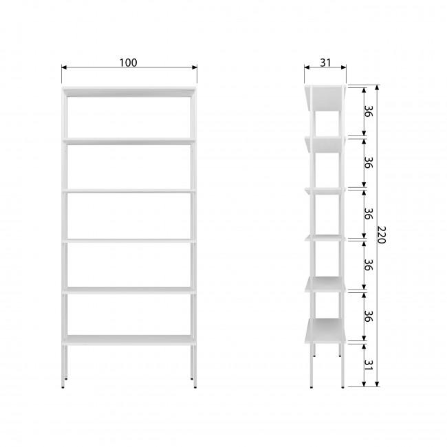 Rack - Étagère en métal 5 niches