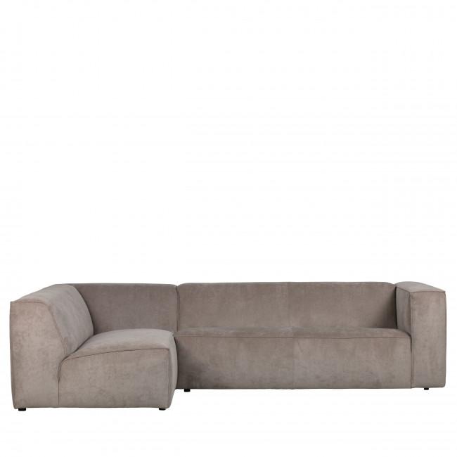 Lazy - Canapé d'angle gauche en velours côtelé
