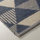 Lebrija - Tapis en tissu bleu et beige